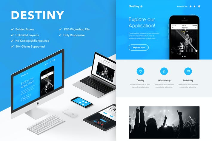 Thumbnail for Destiny - Responsive Email + Themebuilder Access