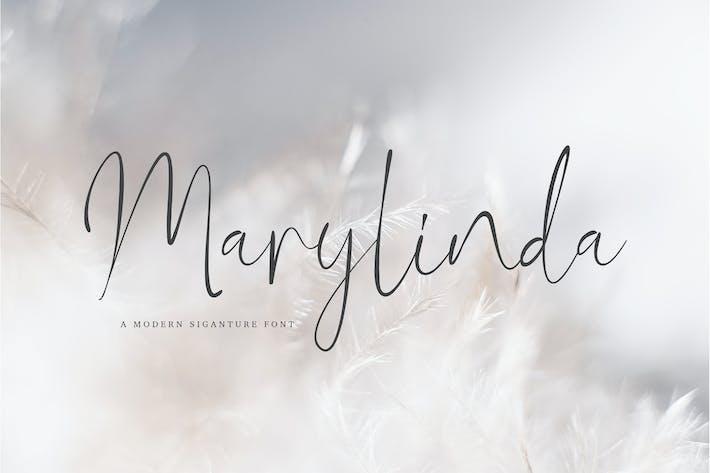 Marylinda Beauty and Modern Signature Font