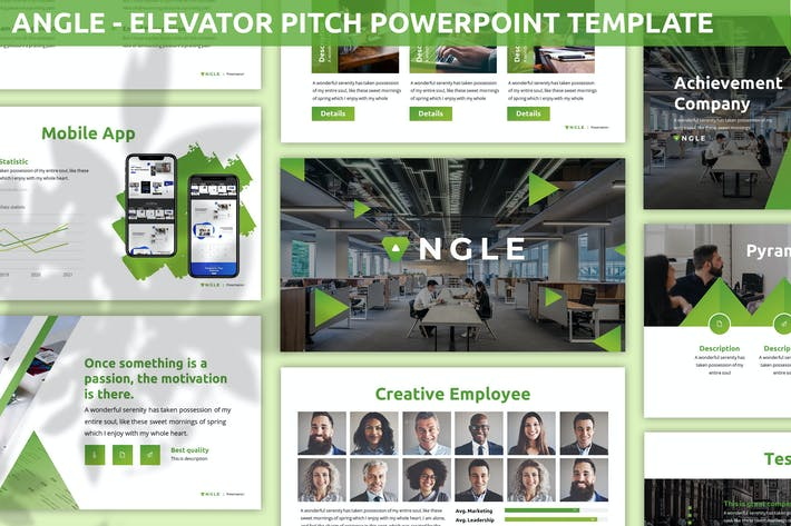 Thumbnail for Angle - Elevator Pitch Powerpoint Template
