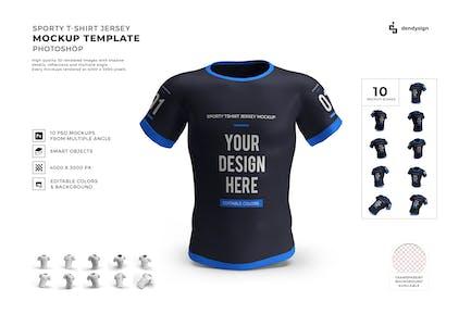 Sporty Tshirt Jersey Mockup Template Set