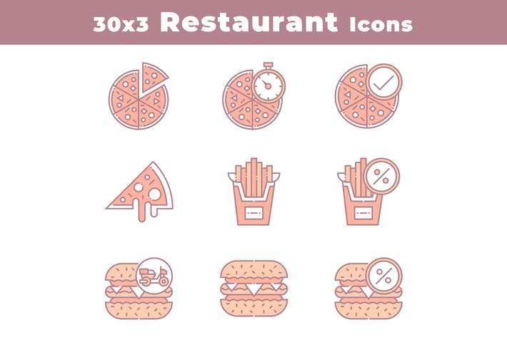 Thumbnail for 30 Restaurant and Food Icons