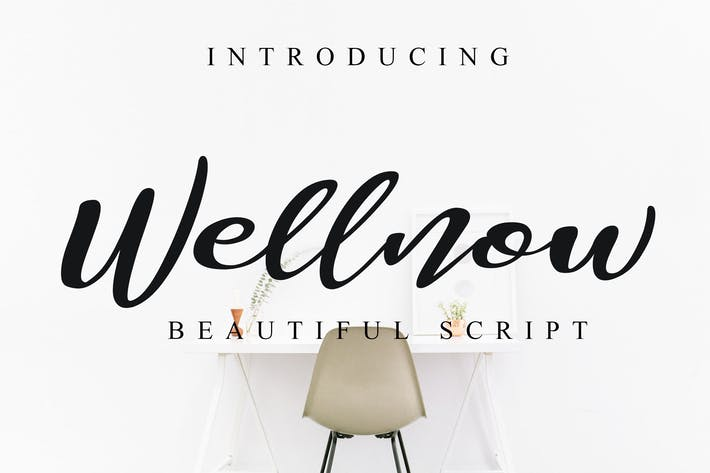 Cover Image For Wellnow Beautiful Font