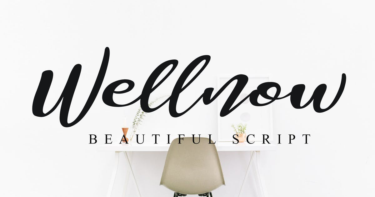 Download Wellnow Beautiful Font by shirongampus