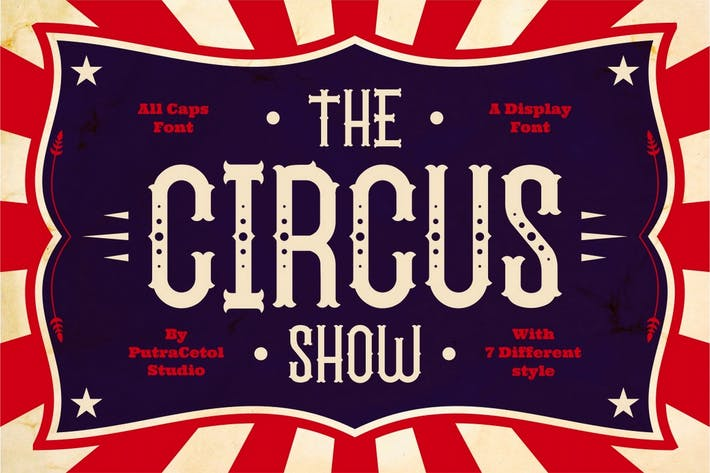 Thumbnail for The Circus Show - Carnival Display Font