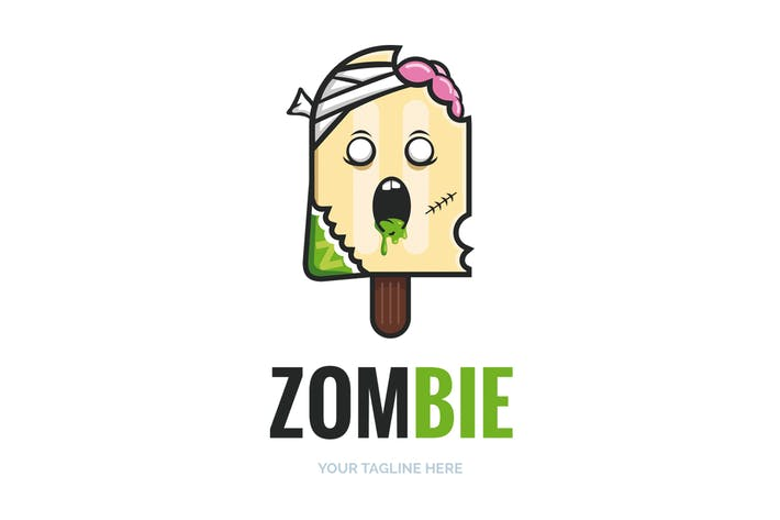 Cover Image For Zombie Popsicle Logo Template