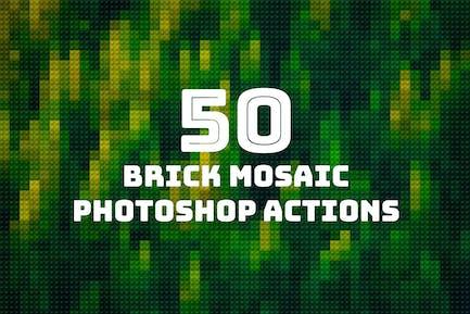 50 Brick Mosaics Actions