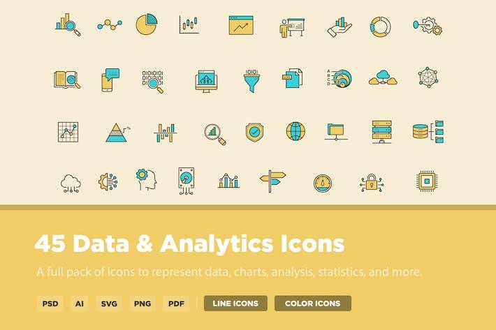 Thumbnail for 45 Data & Analytics Icons