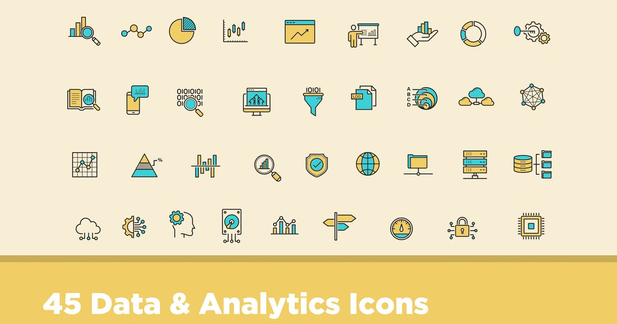 Download 45 Data & Analytics Icons by creativevip