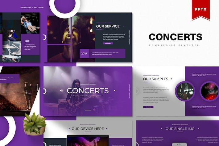 Концерты | Шаблон Powerpoint