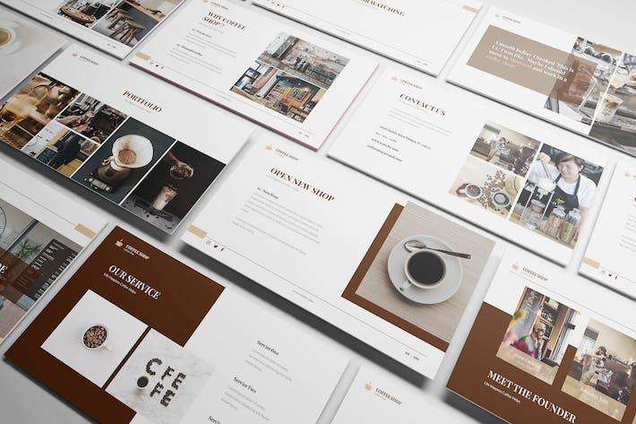 Thumbnail for Coffee Shop Powerpoint Presentation Template