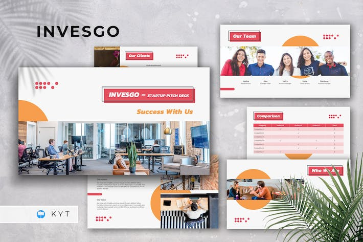 Thumbnail for INVESGO - Startup Pitch Deck Keynote Template