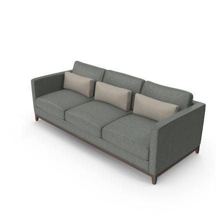 Dark Contemporary 3 Seater Sofa