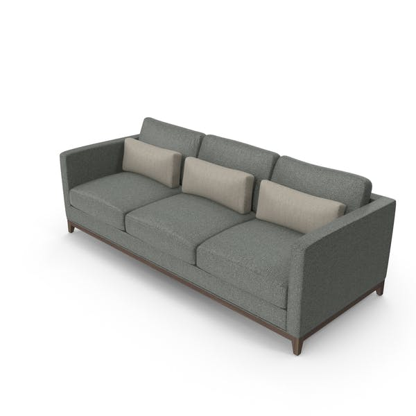 Thumbnail for Dark Contemporary 3 Seater Sofa