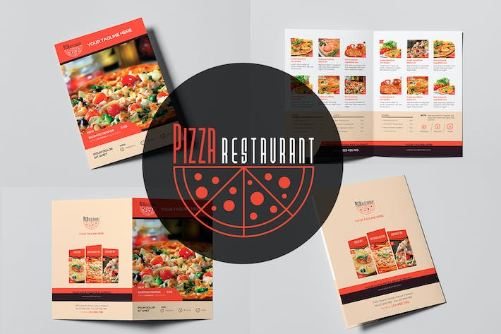 Cover Image For Pizza Restaurant - Menu Template