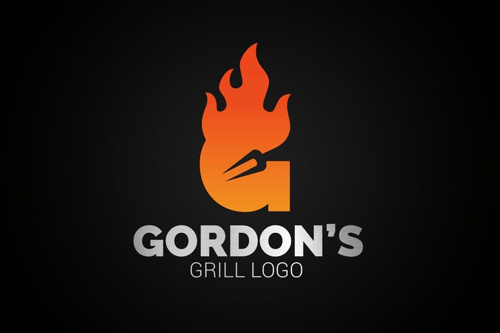 Thumbnail for Letter G Fire Grill Logo
