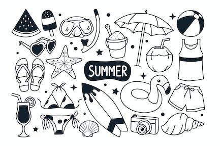 Summer Doodle Illustration