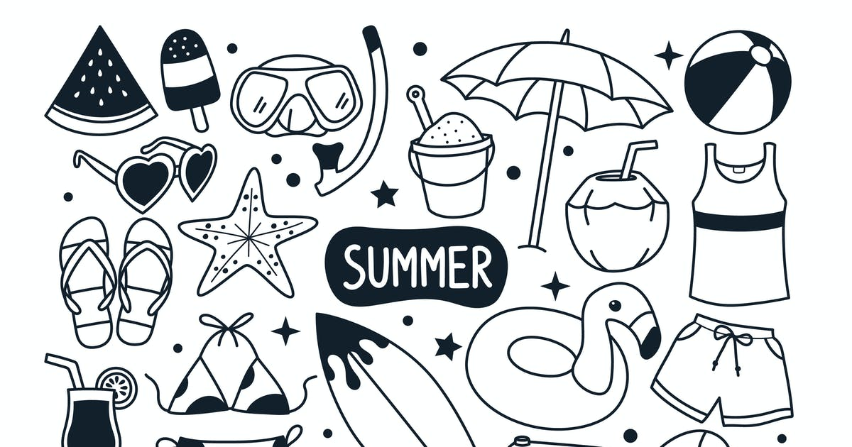 Download Summer Doodle Illustration by yellowline_std