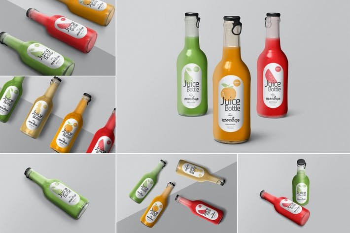 Thumbnail for Juice Bottle Mockups