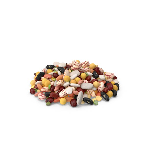 Pile of Mixed Legume Beans
