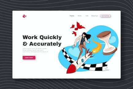 Travailler rapidement et avec précision - Page de destination