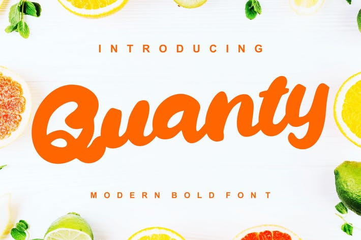 Thumbnail for Quanty | Modern Script Bold Font