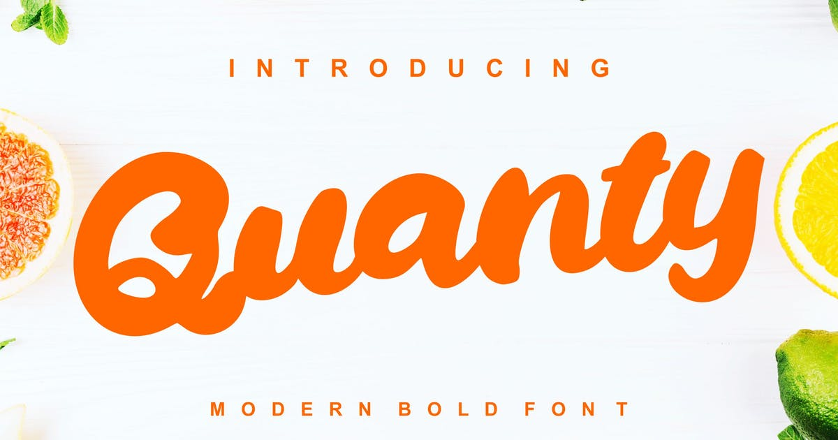 Download Quanty   Modern Script Bold Font by Vunira