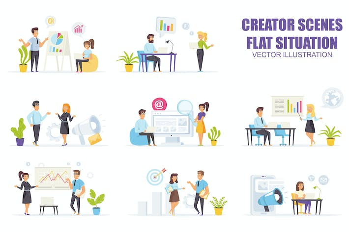 Thumbnail for Collection Marketing Strategy Flat Scene Situation