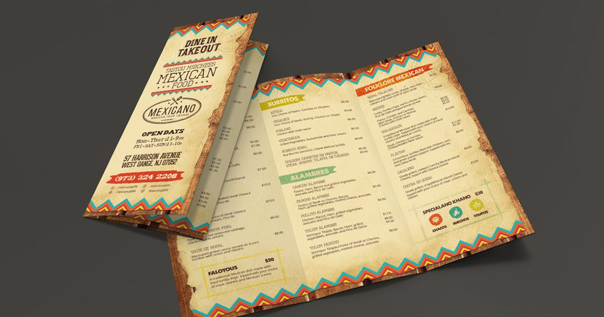 Download Trifold Mexican Food Menu by Unknow