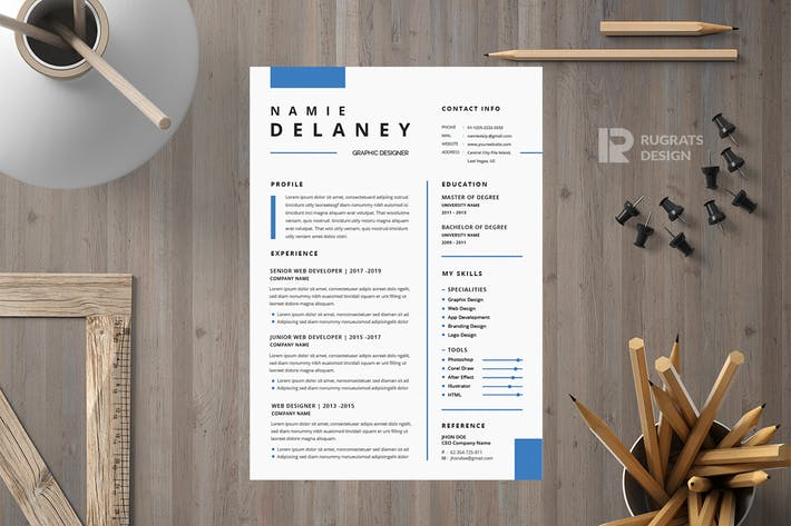 Thumbnail for Minimalist CV  Resume R17 Template