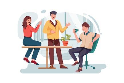 Office people gossip in company