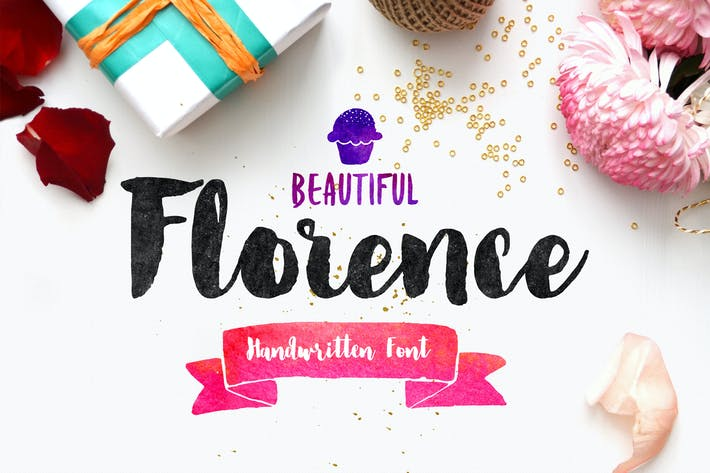 Thumbnail for Florence Brush Font