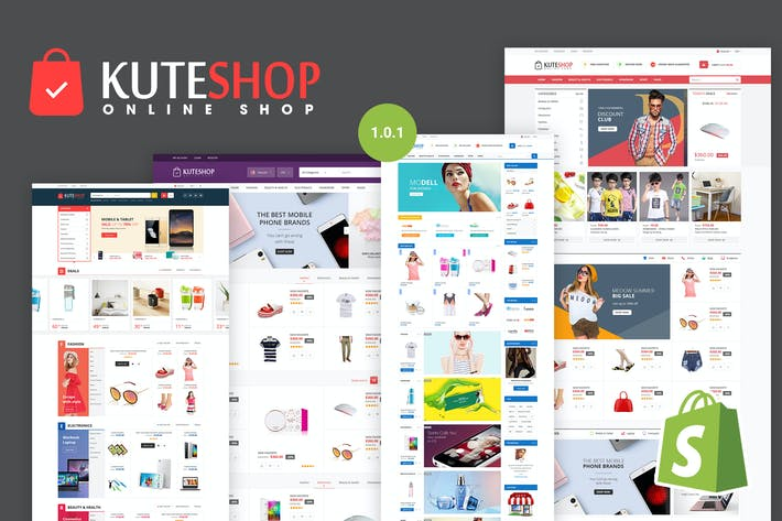 Cover Image For KuteShop | Super Market Responsive Shopify Theme