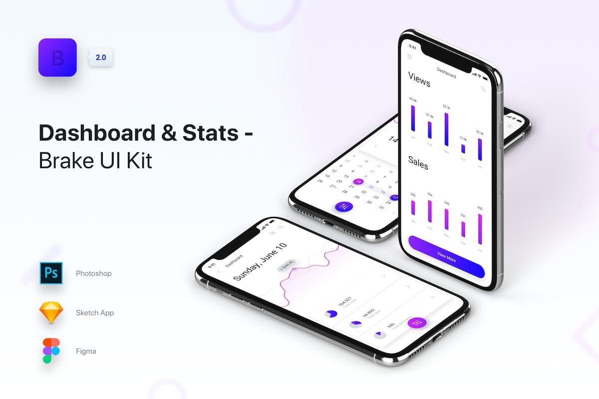 Brake UI Kit 2 0 - Dashboard & Statistics by panoplystore on Envato