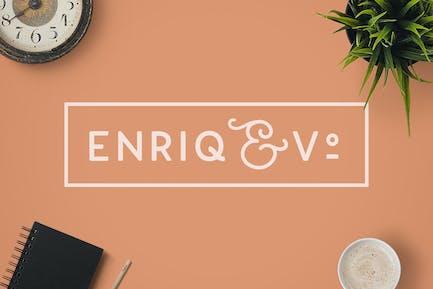 Шрифт без С засечками Enriq