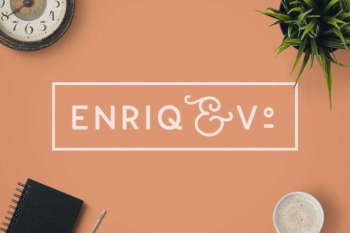 Thumbnail for Enriq Round Sans Con serifa Font