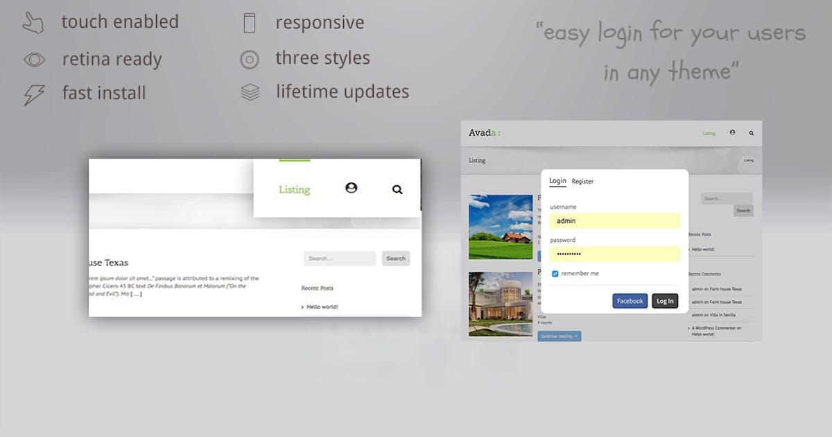 Download Login lightbox wordpress - easy login / register w by ZoomIt