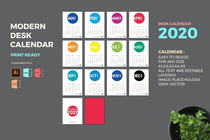 Thumbnail for Modern 2020 Desk Calendar Pro