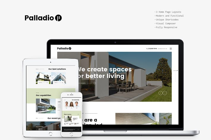 Thumbnail for Palladio - Interior Design & Architecture WP Theme