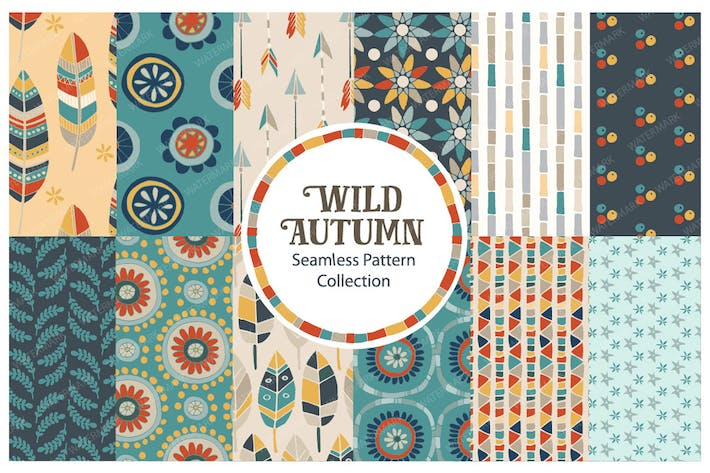 Thumbnail for Wild Autumn Seamless Vector Pattern Collection