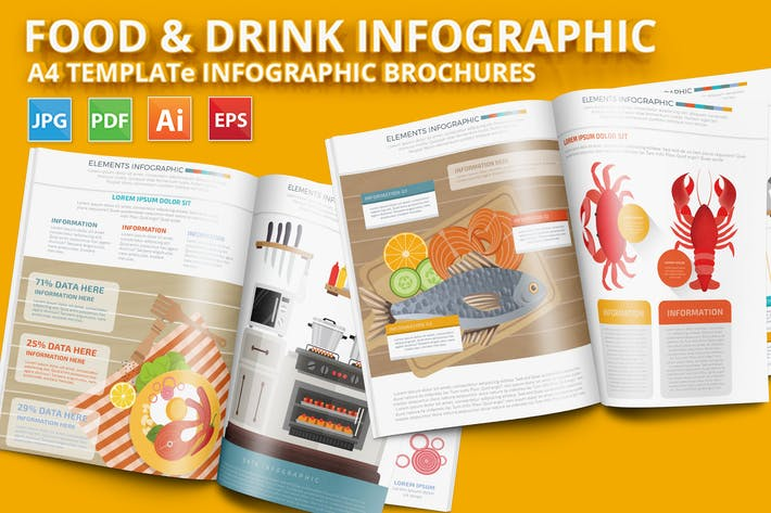 Thumbnail for Food & Drink 3 Infographic Design