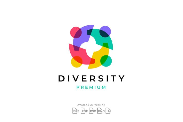 Diversity People Family Together Logo