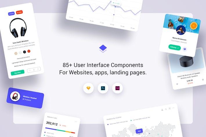 Thumbnail for 85+ User Interface Cards - Cards Full UI Kit