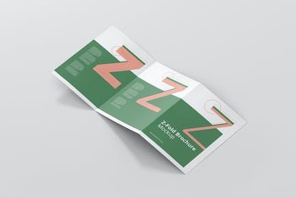 Z-Fold Brochure Mockup - Din A4 A5 A6