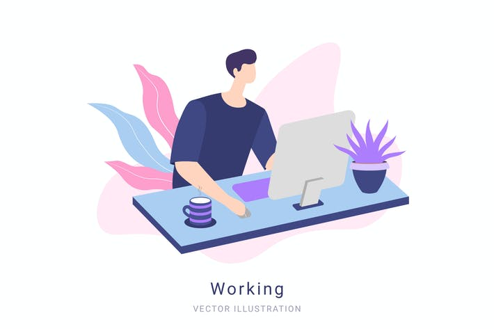 Thumbnail for Working Vector Illustration