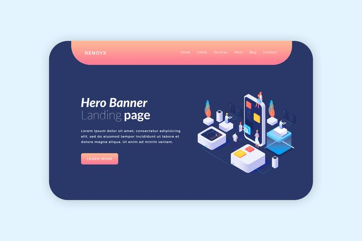 Thumbnail for Renyox - Hero Banner Template