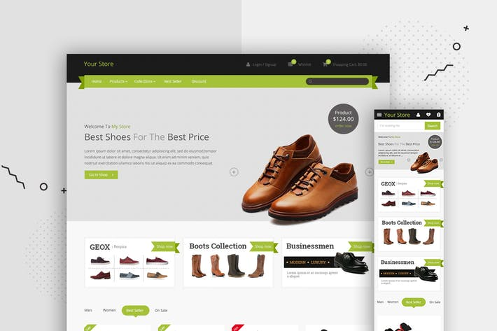 Thumbnail for Shop Website Landing Page