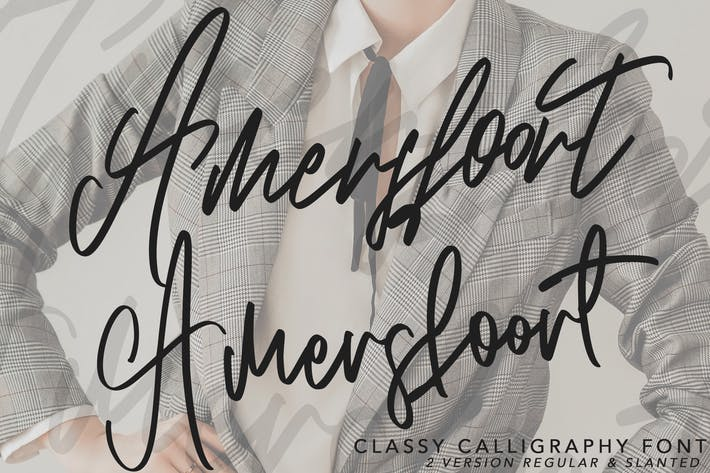 Thumbnail for Amersfoort Calligraphy Font | 2 Version