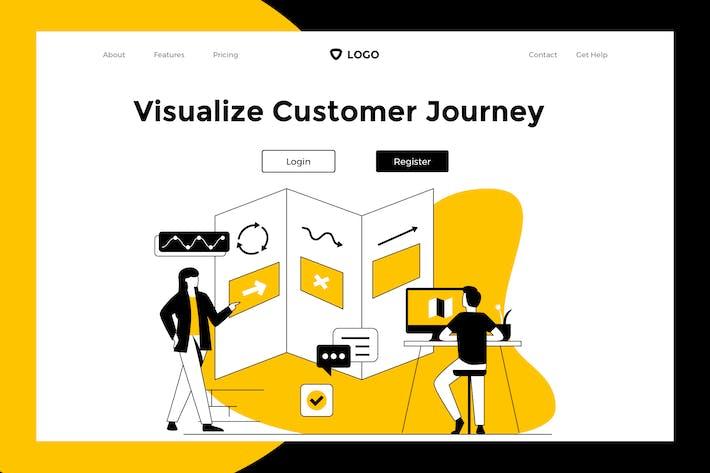 Thumbnail for Customer Journey - Web Mobile Landing Page Banner