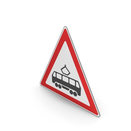 Verkehrszeichen Straßenbahnübergang