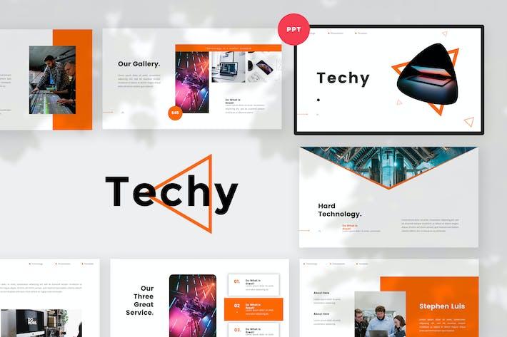 Thumbnail for Шаблон PowerPoint простой технологии